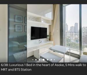 For RentCondoSukhumvit, Asoke, Thonglor : Edge Sukhumvit 23 for rent 1 bedroom 35 sq.m. fl.8 Fully furnished, Ready move in near BTS Asoke