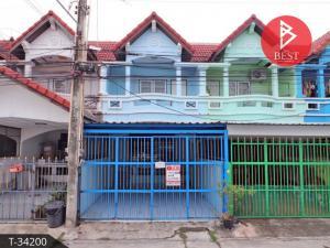 For SaleTownhousePattaya, Bangsaen, Chonburi : Townhouse for sale Saensuk Thani Village, Chonburi, ready to move in