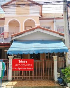 For RentTownhouseSamrong, Samut Prakan : 2 storey townhouse for rent, Phanason Village, Phraeksa 8, ready to move in, kitchen extension, kitchen counter