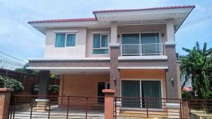 For RentHouseRangsit, Patumtani : Single house for rent, only 25000 baht, Thanyaburi, Khlong 2, Casa Ville, 3 bedrooms, 3 bathrooms, 2 air conditioners.