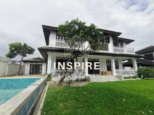 For RentHouseOnnut, Udomsuk : Renovated Charming House with private pool & large garden for rent at Sukhumvit  Bangkok.