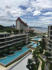 ขายคอนโดหัวหิน ประจวบคีรีขันธ์ : ขาย New Beachfront condo @Veranda Residence Huahin, 1 ห้องนอน (มีน้อย) วิวทะเลสวย Fully Furnished พร้อมอยู่
