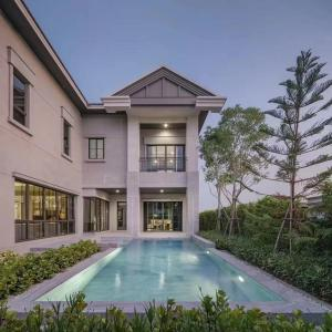 For RentHouseBangna, Lasalle, Bearing : เช่าบ้านเดี่ยวแบริ่ง พื้นที่ 800 ตารางเมตร  5 ห้องนอน 7 ห้องน้ำ ที่จอด 7 คัน Super Luxury House in Bearing , 5 Bed 7 Bath , 800 sqm , 5 Parking Lot