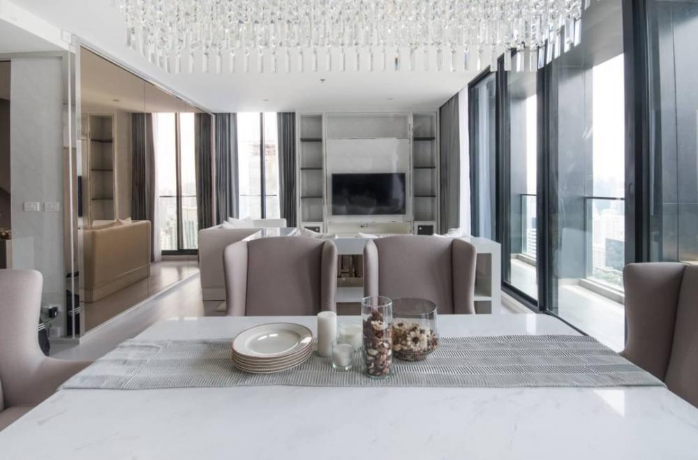 For RentCondoWitthayu, Chidlom, Langsuan, Ploenchit : Rental : Noble Ploenchit, Ploenchit, Type (Bedroom) 3/duplex, Floor 38-39 (bldg. C), 186 sqm🔥🔥 Rental : 190,000 THB / Month 🔥🔥