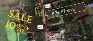 ขายที่ดินบางใหญ่ บางบัวทอง ไทรน้อย : ขายที่ดิน นนทบุรี 9-2-21 ไร่ หนองเพรางาย ติดถนนหลายสาย ใกล้ถนนกาญจนาภิเษก