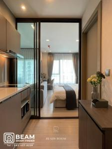 For RentCondoRama9, RCA, Petchaburi : LI063_P 💖Life Asoke Rama9💖**Very beautiful room but complete, ready to move in**Convenient travel near MRT💕