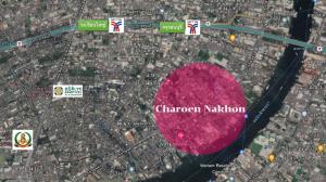 For SaleLandWongwianyai, Charoennakor : Beautiful plot of land for sale on Charoen Nakhon Road, next to the Chao Phraya River!