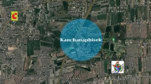 For SaleLandNawamin, Ramindra : Big plot of land for sale, 70 rai, Kanchanaphisek Road, Saimai, cheap price!