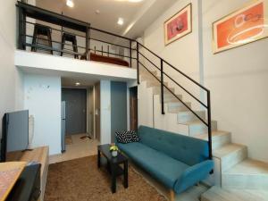 เช่าคอนโดพระราม 9 เพชรบุรีตัดใหม่ : Duplex 1 bed nice room good view ✨