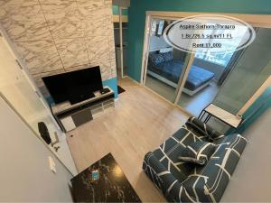 For RentCondoThaphra, Wutthakat : Rent-Aspire Sathorn-Thapra / 1 bed / 26.5 sqm. / 11th floor, next to BTS Talat Phlu, rent 11,000