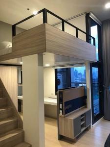For RentCondoRama9, RCA, Petchaburi : N8160518  ให้เช่า/For Rent Condo Chewathai Residence Asoke (ชีวาทัย เรสซิเดนซ์ อโศก) 1นอน 35ตร.ม ห้องDuplex เฟอร์ครบ พร้อมอยู่