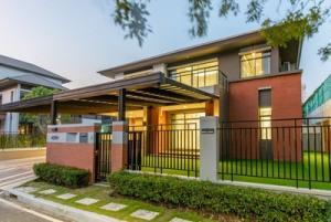 For SaleHouseRamkhamhaeng,Min Buri, Romklao : บ้านเดี่ยวแกรนด์ บางกอก บูเลอวาร์ด พระราม 9 ใกล้รถไฟฟ้าสีเหลือง100 ตารางวา 4 ห้องนอน