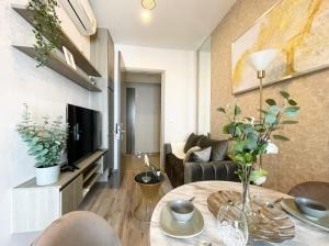For RentCondoOnnut, Udomsuk : Condo for RENT  KnightsBridge Prime Onnut เพดานสูง 3 เมตร ขนาด 27 ตารางเมตร 1 ห้องนอน 1 ห้องนอน ชั้น 36 แต่งสวย
