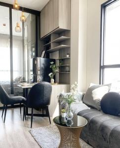 For RentCondoOnnut, Udomsuk : Condo for RENT  KnightsBridge Prime Onnut Condo  ห้องฝ้าเพดานสูง 3 เมตร ขนาด 32 ตารางเมตร 1 ห้องนอน 1 ห้องน้ำ ชั้น 22