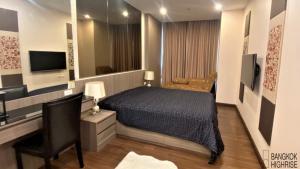 For RentCondoSathorn, Narathiwat : Condo Supalai Lite Sathorn-Charoenrat @BTS Surasak, 49 sq.m 1 Bedroom 16th floor Clear View, Fully furnished
