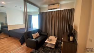 For RentCondoRathburana, Suksawat : Condo Lumpini Ville Suksawat-Rama 2 @Big C Bang Pakok 24 sq.m 1Bed 21st floor Clear View, Fully furnished