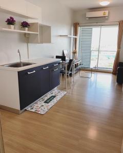 เช่าคอนโดอ่อนนุช อุดมสุข : ปล่อยเช่าคอนโด Aspace สุขุมวิท77 ตึก H ชั้น 7 ขนาด 35 ตารางเมตร แบบ One Bedroom (1 ห้องนอน 1 ห้องน้ำ ระเบียงกว้างมาก)