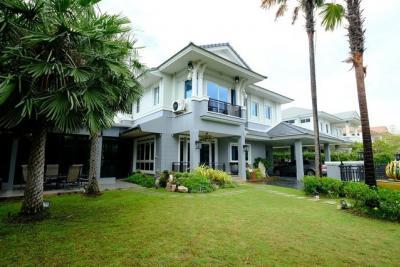 For RentHouseSamrong, Samut Prakan : RH600 ให้เช่าหมู่บ้าน นันทวัน - ศรีนครินทร์ 148 ตรว. 4 ห้องนอน 4 ห้องน้ำ หลังมุม