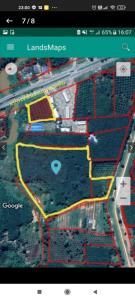 For SaleLandSamui, Surat Thani : ขายที่ดินป่าเวติดปั้ม ปตท. ติดถนนเอเชีย 3-3-49
