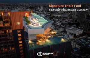 Sale DownCondoLadprao, Central Ladprao : 🔥🔥 Quick down payment sale Half loss of down payment, high floor, east side, clear view, no block 🌈