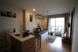 For RentCondoRatchadapisek, Huaikwang, Suttisan : Rhythm Ratchada-Huaikhwang for rent 1 bedroom 46 sq.m. fl.20 corner room Fully furnished, Ready move in near MRT Huaikhwang