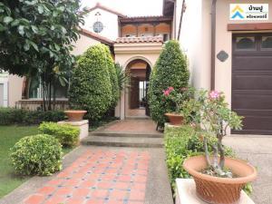 For RentHouseBangna, Lasalle, Bearing : Luxury House for Rent, Magnolias Bangna KM.7 near Mega Bangna 4 Beds 5 Baths with 1 Guest House, Bangpli, Samutprakarn