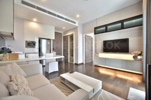 For RentCondoRama9, RCA, Petchaburi : 🌟<RENT> Q Asoke 🌟 1B1B 45 SQM., luxurious minimal decor, 1 step to MRT Phetchaburi