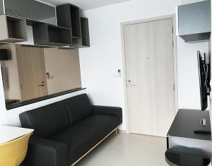 For RentCondoRama9, RCA, Petchaburi : Condo Life Asoke @MRT Phetchaburi 25 sq.m 34 floor Corner Unit, Nice View, Fully furnished