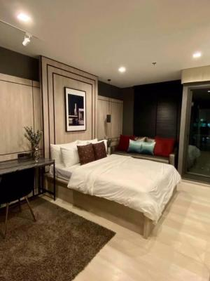 For RentCondoWitthayu,Ploenchit  ,Langsuan : LC-R587 For rent Life One WirelessStudio + balcony   28 sqm. ⭐️ Full Furnished, 23rd floor, ready to move in, furniture, electrical appliances.