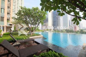For SaleCondoRama9, RCA, Petchaburi : Sale with Tenant! 25+ High Floor Condo for Sale Near MRT Phetchaburi - Villa Asoke @5.8MB