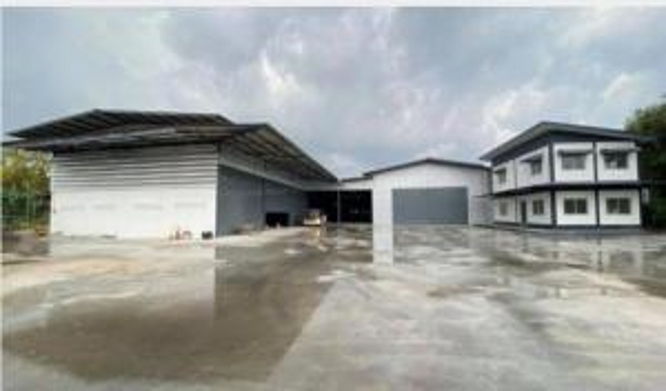 For RentWarehousePattaya, Bangsaen, Chonburi : ให้เช่าโกดังพร้อมสำนักงานย่านบ้านบึง ศรีราชา เลียบมอเตอร์เวย์ พื้นที่ใช้สอย รวม 2,000 ตร.ม.