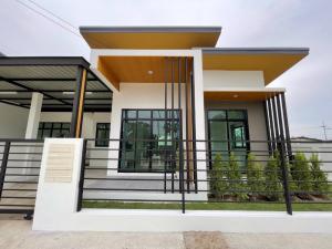 ขายบ้านพัทยา บางแสน ชลบุรี : ขายบ้านแฝดมือ 1 โครงการหมู่บ้าน เอเวอร์กรีน ฮิลล์ อมตะ-หนองแฟบ