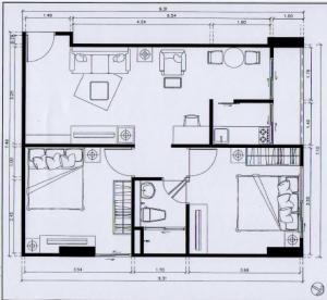 เช่าคอนโดอ่อนนุช อุดมสุข : Condo Regent Home 9 Sukhumvit 64 ให้เช่าห้องชั้น 3 ห้องเลขที่ 30 ขนาด 2 ห้องนอน 1 ห้องน้ำ 1 ห้องครัว 1 ห้องรับแขก ขนาดห้อง 63 ตรม.