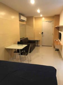 เช่าคอนโดสยาม จุฬา สามย่าน : Ideo Q Chula ให้เช่าห้องสตูดิโอ 28.5 ตร.ม. ชั้น 16 เฟอร์ครบพร้อมอยู่ใกล้ MRT สามย่านเดินทางสะดวก