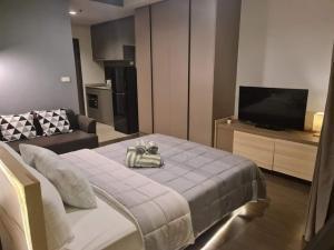 For RentCondoOnnut, Udomsuk : Hot deal!! Ideo Sukhumvit 93 for rent Studio room 26 sq.m. fl.35 Fully furnished, Ready move in near BTS Bangchak