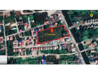 ขายที่ดินนครปฐม พุทธมณฑล ศาลายา : ขายที่ดินเปล่า ติดถนนเลียบคลองทวีวัฒนา 8 ไร่