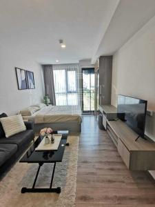 For RentCondoBangna, Lasalle, Bearing : For Rent KnightsBridge Collage Sukhumvit 107 (24.59 sqm.)