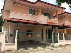 For RentHouseLadkrabang, Suwannaphum Airport : HR840ให้เช่าบ้านเดี่ยว 50 ตรว.หมู่บ้านระเบียงสวน 4 เฉลิมพระเกียรติ ร.9 ซอย 28 พร้อมอยู่