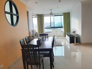 For RentCondoRama3 (Riverside),Satupadit : W0654 Condo for rent, Supalai Casa Riva Fronte 2, 2 bedrooms 2 bathrooms, Room size 125 sq.m. , 6th floor, Corner room overlooking the Bangkok Bridge, Fully furnished