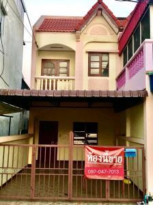 For SaleTownhouseSuphan Buri : ทาวน์โฮม 2 ชั้น ปรับปรุงใหม่ทั้งหลัง ติดถนนใหญ่ ห่วงจากโรงพยาบาลเจ้าพระยายมราชไม่ถึง 1 กิโลเมตร