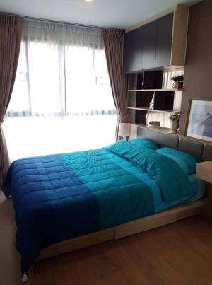 For RentCondoBangna, Lasalle, Bearing : LC-R602 Condo for rent, Ideo O2 Bangna, 1 bedroom, fully furnished, size 33, very spacious room, reduce irony - 1 bedroom, 1 bathroom, closed kitchen - size 33 sq.m. - Building B, 12th floor - direction south east, pool view