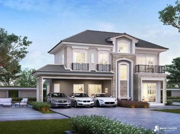 For SaleHouseLadprao, Central Ladprao : NA-H7039 ให้เช่า/ขายบ้านเดี่ยว สุดหรู เฟอร์นิเจอร์ครบครัน ในโครงการ Grandio Ladprao-Kaset Nawamin