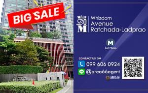 For RentCondoLadprao, Central Ladprao : For rent Whizdom Avenue Ratchada - Ladprao Nearby MRT Ladprao