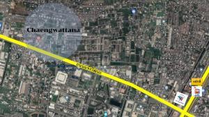 For SaleLandChaengwatana, Muangthong : Selling cheap! Land on Chaeng Watthana Road orange city plan Cheapest in this area