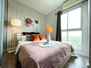 For SaleCondoBangna, Bearing, Lasalle : NAI496 Condo for sale, high floor, beautiful view, A Space Me Bangna, near MEGA BANGNA 1.39 MB.