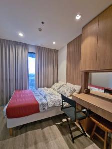 For RentCondoRama9, RCA, Petchaburi : ให้เช่า 1 ห้องนอน พร้อมอยู่ ตกแต่งดี ชั้น 20 - Rent 1 Bedroom Nice decoration !