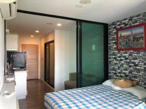 For RentCondoBangna, Lasalle, Bearing : LC-R626 Condo for rent, Pause Sukhumvit 103, near BTS Udomsuk, 600 meters, 7,500 baht (including common fee), minimum 1 year contract, room size 22.3 sq.m. Studio room (bedroom partition), 5th floor.