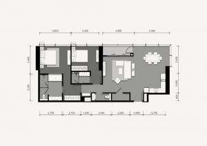 ขายดาวน์คอนโดสาทร นราธิวาส : Condo Tait 12  2 Bedroom 104.5 Sq.m 🔥🔥  1 Of 13 unit of bulding🔥🔥