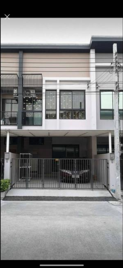 For RentTownhouseLadkrabang, Suwannaphum Airport : ทาวน์โฮม หมู่บ้านไทม์โฮม2 (Time home 2)หมู่บ้านอยู่เลียบมอเตอร์เวย์-ประเวศ