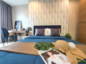 For RentCondoSiam Paragon ,Chulalongkorn,Samyan : Condo for rent Ideo Q Chula Samyan,💥big room, beautiful decoration, cheap price💥, near MRT Samyan, walk a few steps to Chula, fully furnished, electrical appliances are ready.Size 34 sq.m., 15th floor💰 Rental price: 17,000 baht / month